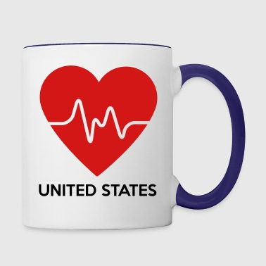 Heart United States of America - Contrast Coffee Mug