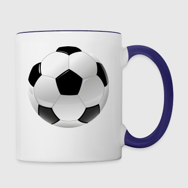 football realistic ball sport - Contrast Coffee Mug