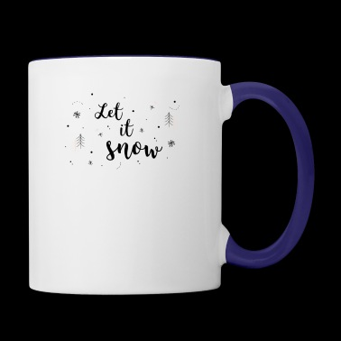Let It Snow - Contrast Coffee Mug