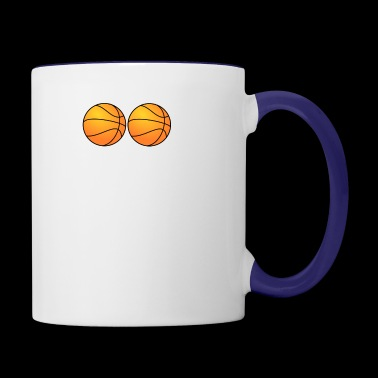 Hoops Basketball - Contrast Coffee Mug