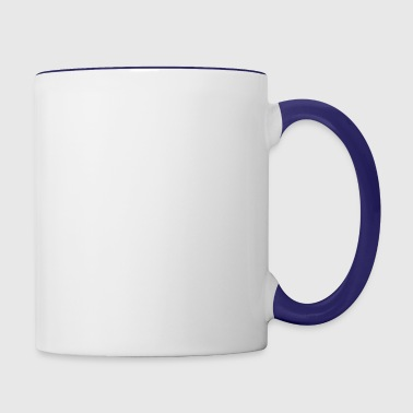 I love my granddaughter to the moon back - Contrast Coffee Mug