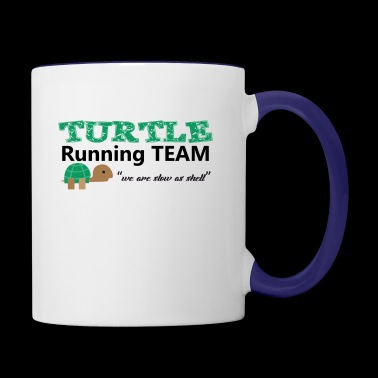 Turtle Running Team we are slow as shell Tee Shirt - Contrast Coffee Mug