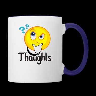 Thoughts - Contrast Coffee Mug