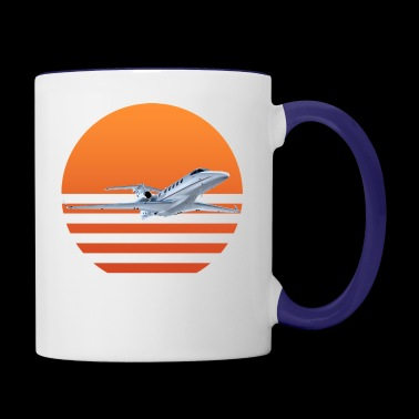 Sunset Jet - Contrast Coffee Mug