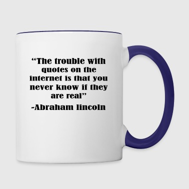 The trouble with the internet - Contrast Coffee Mug