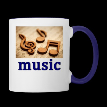 music heals - Contrast Coffee Mug