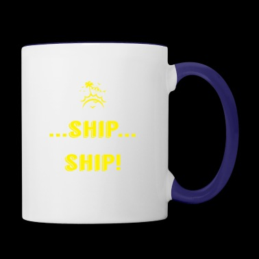 What Happens On Ship Stay On Ship Cruise Vacation - Contrast Coffee Mug