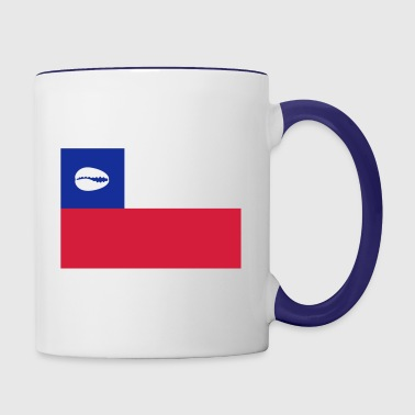 Chilean flag for proud santero - Contrast Coffee Mug