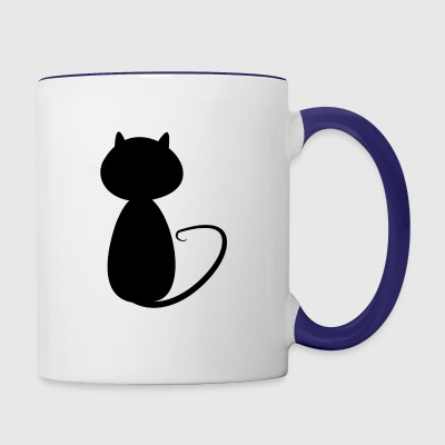 Big cat shadow - Contrast Coffee Mug