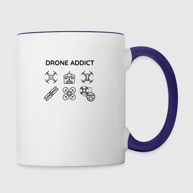 Drone addict - Contrast Coffee Mug
