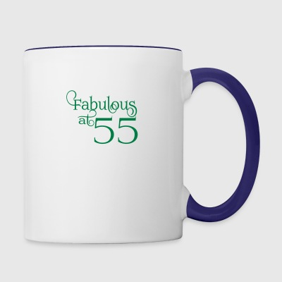 Fabulous at 55 - Contrast Coffee Mug