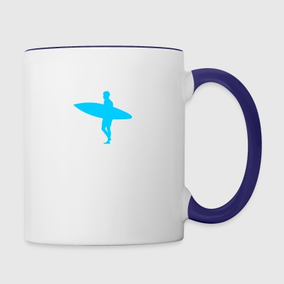 Blue Surfer - Contrast Coffee Mug