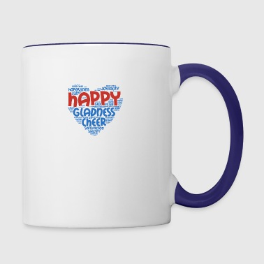 Joyful Heart - Typography - Contrast Coffee Mug