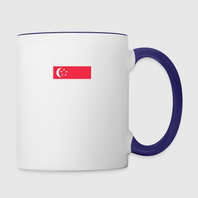 Singaporean Flag Singapore Skyline - Contrast Coffee Mug
