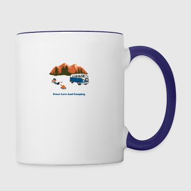 Peace Love Camp - Contrast Coffee Mug