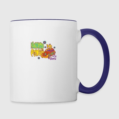 FLOWERS POWER trip - Contrast Coffee Mug