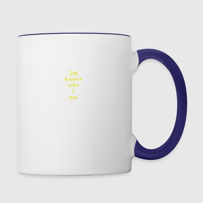 god - Contrast Coffee Mug
