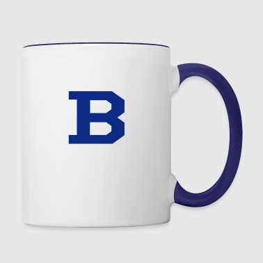 B - Contrast Coffee Mug