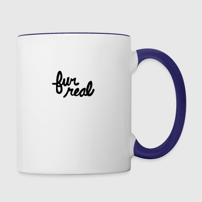 fur real - Contrast Coffee Mug