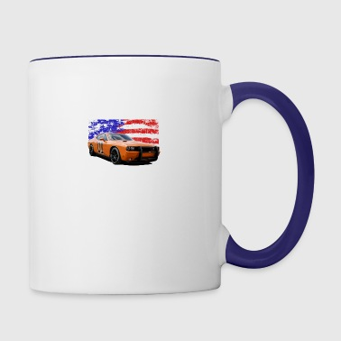 Dodge Challenger RT America Muscle Car Shirt - Contrast Coffee Mug