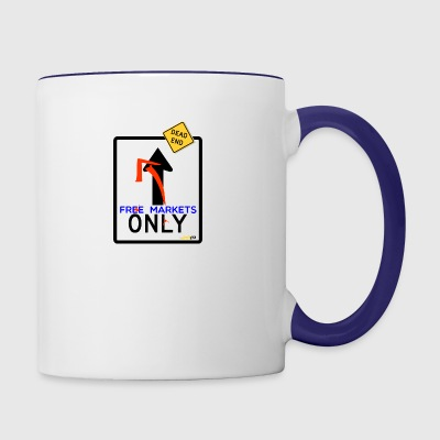 free markets - Contrast Coffee Mug