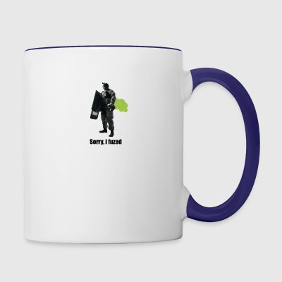 sorry i fuzed - Contrast Coffee Mug