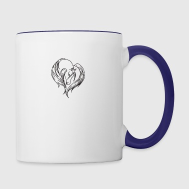 love house - Contrast Coffee Mug