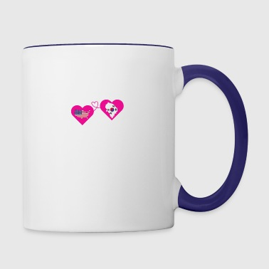 The Love Between Father And Daughter T Shirt - Contrast Coffee Mug