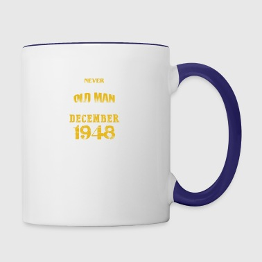 An Old Man Who Was Born In December 1948 - Contrast Coffee Mug
