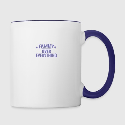 FAMILY OVER EVERYTHING - Contrast Coffee Mug