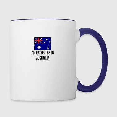 I'd Rather Be In Australia - Contrast Coffee Mug