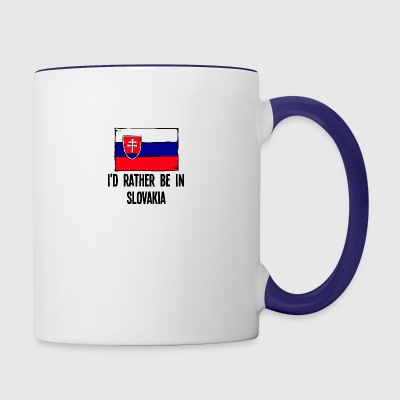 I'd Rather Be In Slovakia - Contrast Coffee Mug