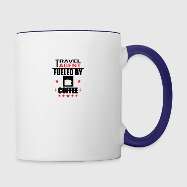 Travel Agent Fueled By Coffee - Contrast Coffee Mug