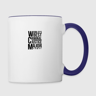 World's Best Criminal Justice Major - Contrast Coffee Mug