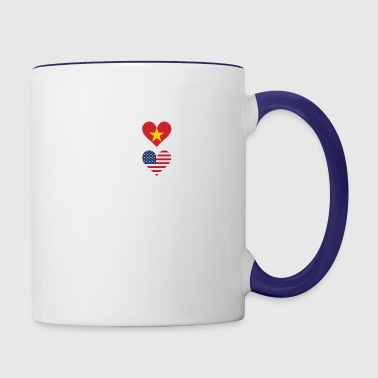 50% Vietnamese 50% American 100% Beautiful - Contrast Coffee Mug