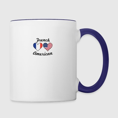 French American Flag Hearts - Contrast Coffee Mug
