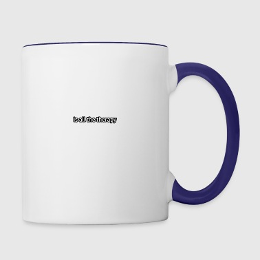 Ping Pong Is My Therapy Contrast Coffee Mug