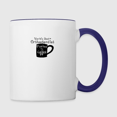 World's Best Orthodontist Fueled By Coffee - Contrast Coffee Mug