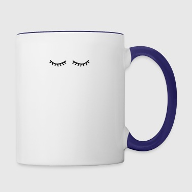 flutter eyelashes - Contrast Coffee Mug