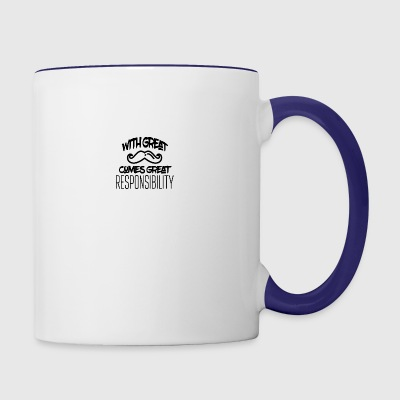 Great beard great responsibility - Contrast Coffee Mug