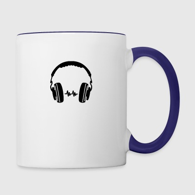 Headphone Silhouette - Contrast Coffee Mug