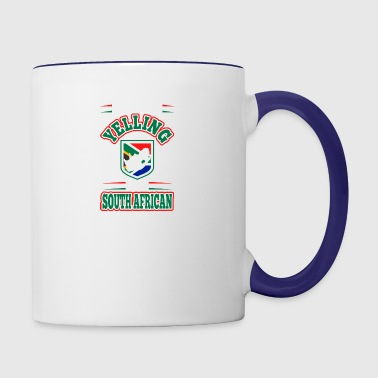 Im Not Yelling Im South African - Contrast Coffee Mug