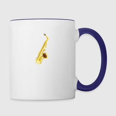 Saxophone, musical instrument, sax - Contrast Coffee Mug