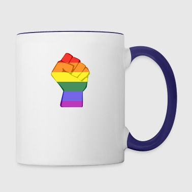 LGBT FIST - Contrast Coffee Mug