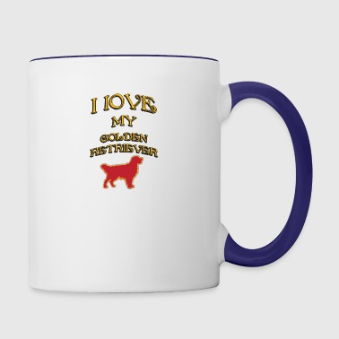 I LOVE MY DOG Golden Retriever - Contrast Coffee Mug