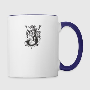 Evil medieval CLOWN - Contrast Coffee Mug
