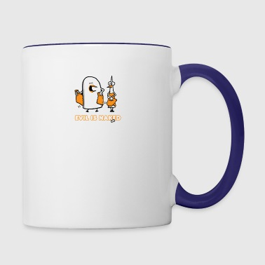 Evil is naked - Contrast Coffee Mug