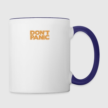 Orange Don t Panic - Contrast Coffee Mug