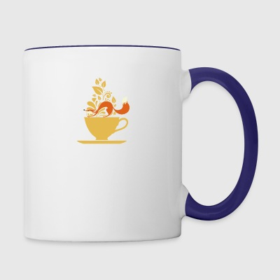 fox tea - Contrast Coffee Mug