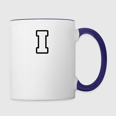 I from alphabet 1 - Contrast Coffee Mug